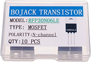 BOJACK RFP30N06LE MOSFET 30 A 60 V RFP30N06LE N-Channel Power MOSFET Transistor ESD Rated TO-220 (Pack of 10 Pcs)