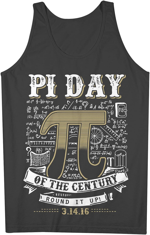 Pi Day Of The Century Mathematician Science Student 男性用 Tank Top Sleeveless Shirt