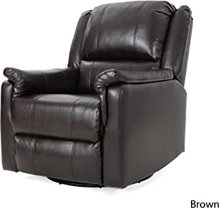 Christopher Knight Home Jemma Swivel Gliding Recliner Chair, Brown