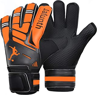 Soccer Goalie Goalkeeper Gloves – Kids Youth Adults Goalie Gloves with Finger Protection Anti-Slip Latex Palm and Soft PU Hand Back