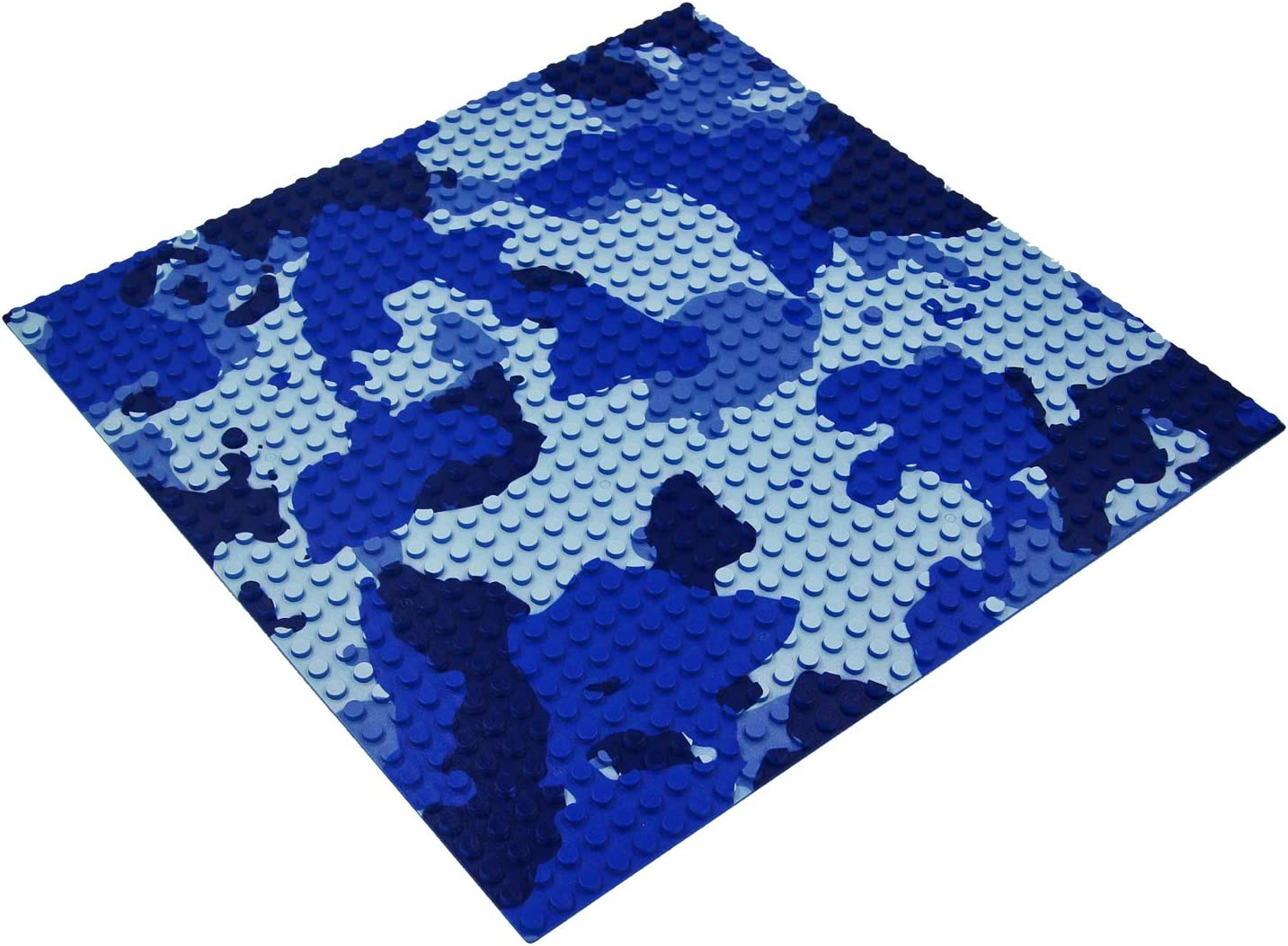 2pcs, Blue Camo 10 x 10 in Variety Color Compatible with Most Major Brands of Building Bricks BOROLA Classic Camouflage Building Base Block Plate