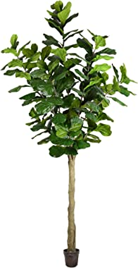 Vickerman Potted Everyday Fiddle Artificial-Trees, 10', Green