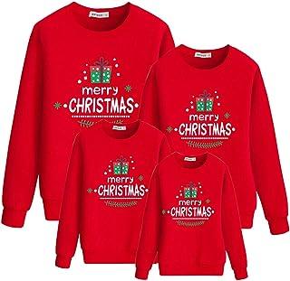 mama stadt Sudadera Navideña Familia Suéter Navidad Christmas Impresión Jersey Pullover para Hombre Mujer Niño