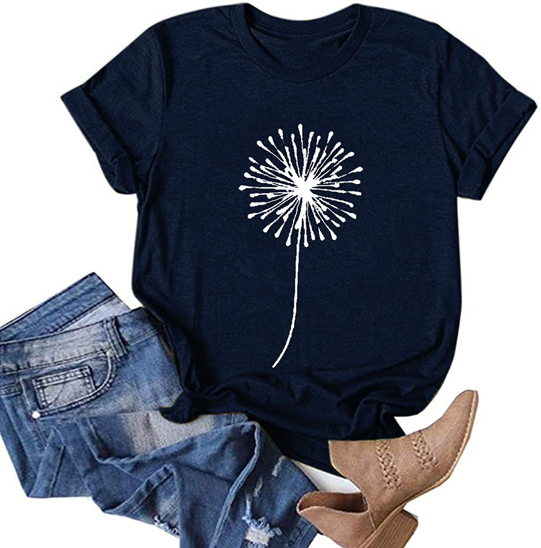 AODONG Graphic tees for Women Sexy Casual Summer Short Sleeve Shirts, Women's Casual V Neck Irregular Hem Plus Size Tee Shirt Tunic Tops Blouse