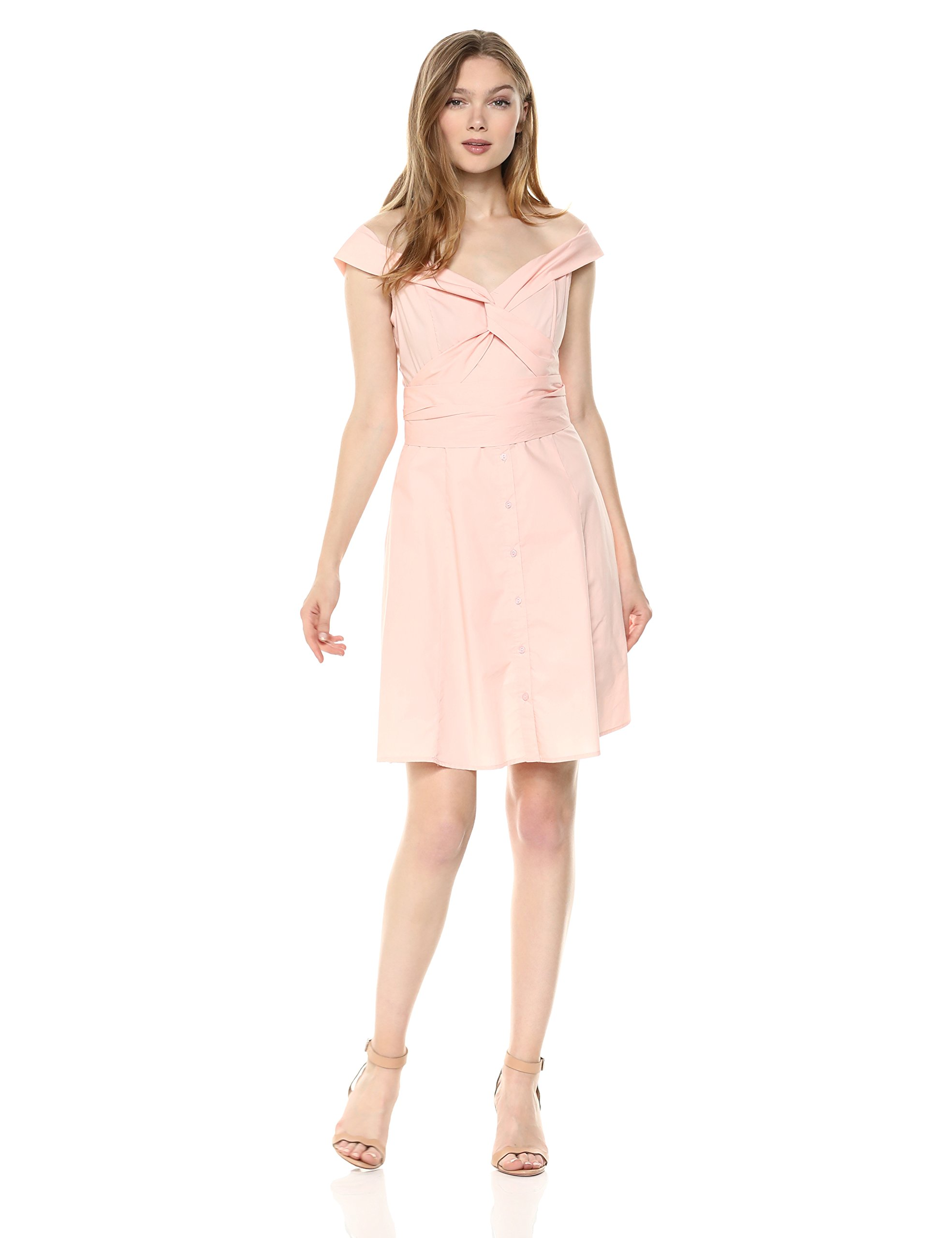 Available at Amazon: ASTR the label Women's Brittany Off The Shoulder Fit & Flare Casual Dress with Belt