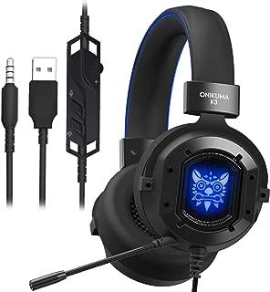 Gaming Headset, GAKOV Gak3 Cool RGB Light, Metal Iron Mesh, HD Clear Hose Microphone Gaming Headphones, 40mm Super Bass Speakers, Soft Memory Earmuffs for Laptop/Mac/Computer/PS4
