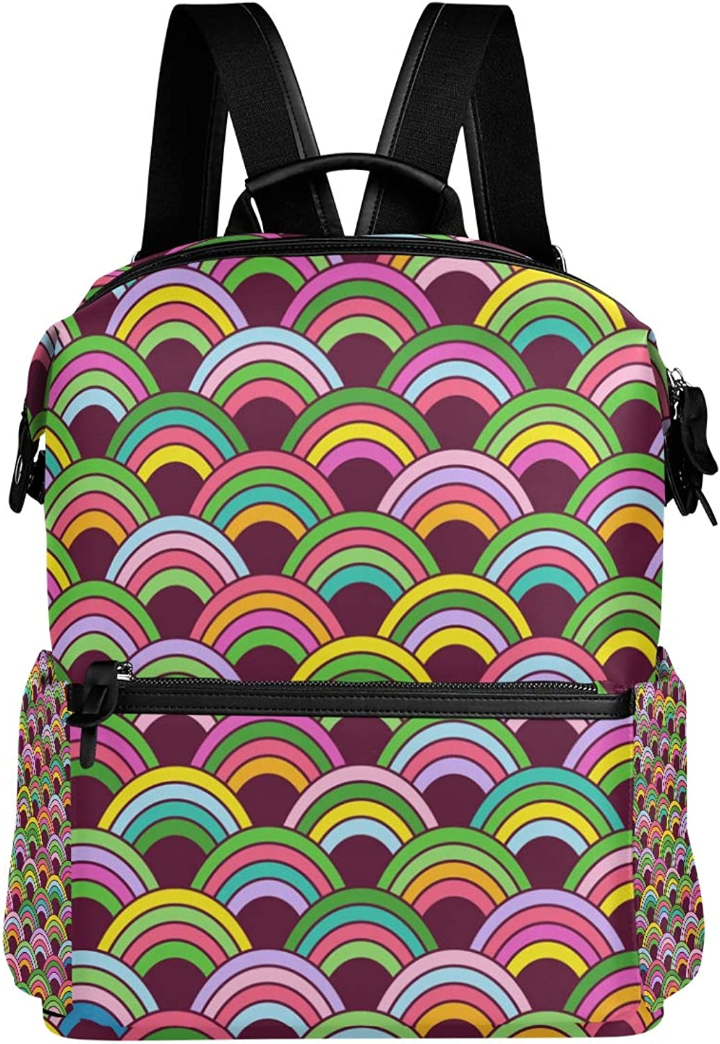 MONTOJ colorful Patterndepositphotos Leather Travel Bag Campus Backpack