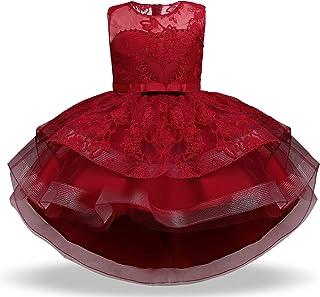 TTYAOVO Abiti da Cerimonia Abito da Tulle con Ricamo a Fiori Eleganti Vestito da Sposa Sera per Ragazze