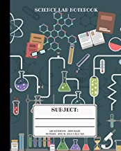 Science Subject: Student Lab Notebook Logbook with Grid Paper for Science Student & Teachers / College Research Composition Book (Lab Scientific Notebooks)