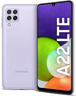 هاتف سامسونج جالكسي A22 الذكي - سعة 128 جيجا، رام 4 جيجا، الجيل الرابع ال تي اي، بنفسجي فاتح (اصدار KSA )