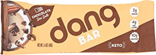 Dang Keto Bar | Crazy Rich Chocolate | 1 Bar| Keto Certified, Vegan, Low Carb, Low Sugar, Plant Based, Non GMO, Gluten Free Snacks | 4g Net Carbs, 9g Protein, No Added Sugars
