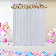 Leegleri White Tulle Backdrop Curtain for Parties Wedding Photography Background for Baby Shower Graduation (5 ft X 7 ft)