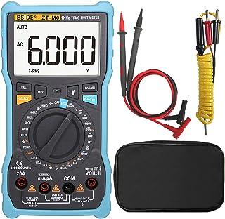 Bside ZT-M0 Electricians Digital Multimeter Manual & Smart Mode Design True RMS 6000 Counts Auto-Ranging Voltmeter Tempera...