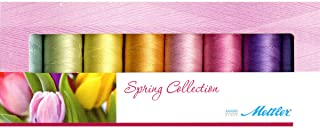 Mettler Thread Silk Finish 100% Mercerized Cotton Sewing Set; 8 Spools Spring Colors SF8Spring