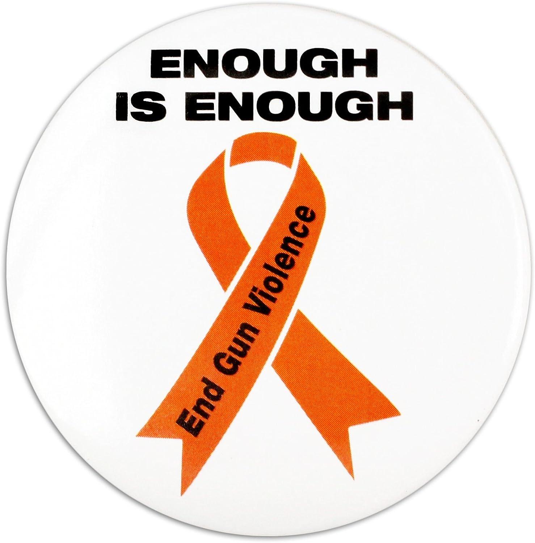 Fundraising For Super sale A Cause End Gun Orange List price Ribbon Violence Button Pi