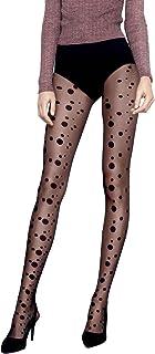 Pariser-Mode Strumpfhose elegante trendig Strümpfe mit Muster Pünktchen schwarz 20 Deniers