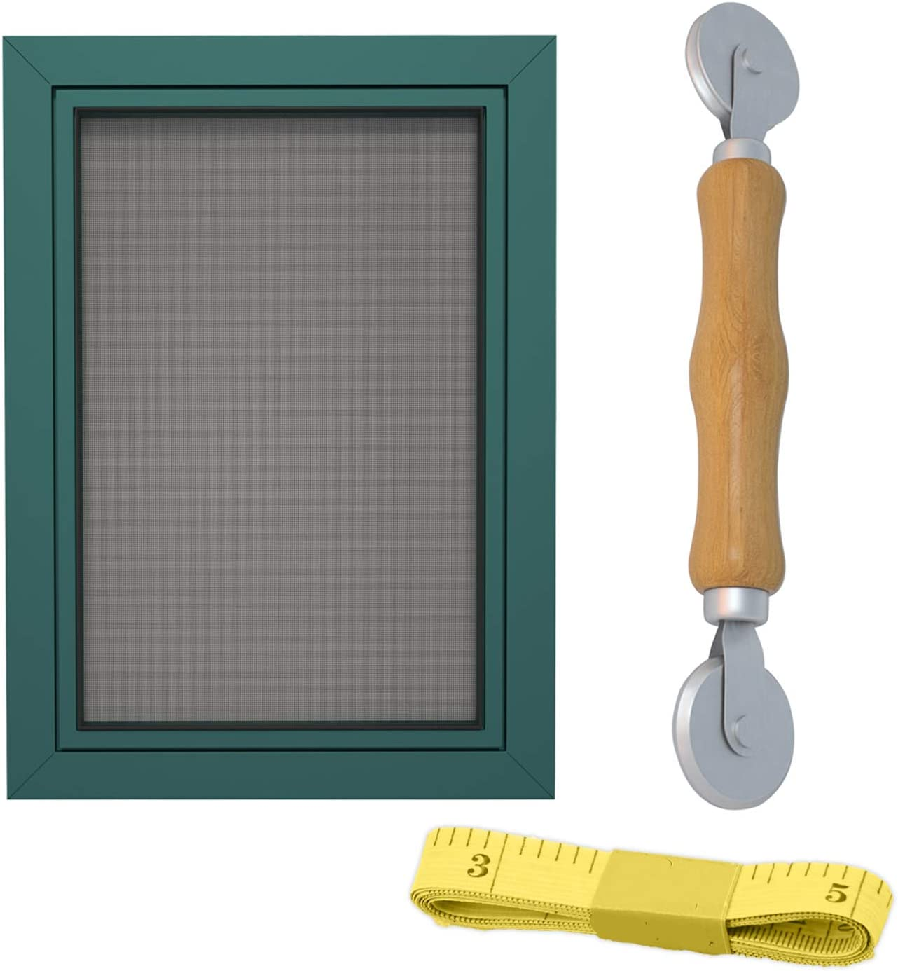 Adjustable DIY Window Screen Fiberglass Mesh Screen Replacement Kit Door Screen Insect Screen Size Up to 59x 118 Max Black