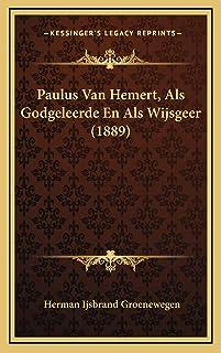 Paulus Van Hemert, Als Godgeleerde En Als Wijsgeer (1889)