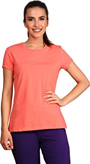 Jockey Pink Cotton Round Neck T-Shirt For Women