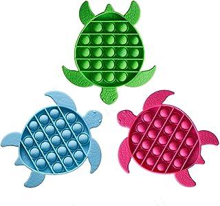 【3 Pack】 Noii Push Pop Fidget Toys.Premium Soft Silicone Push Pop Bubble Fidget Sensory Toys for Adults,Special Needs Anxi...