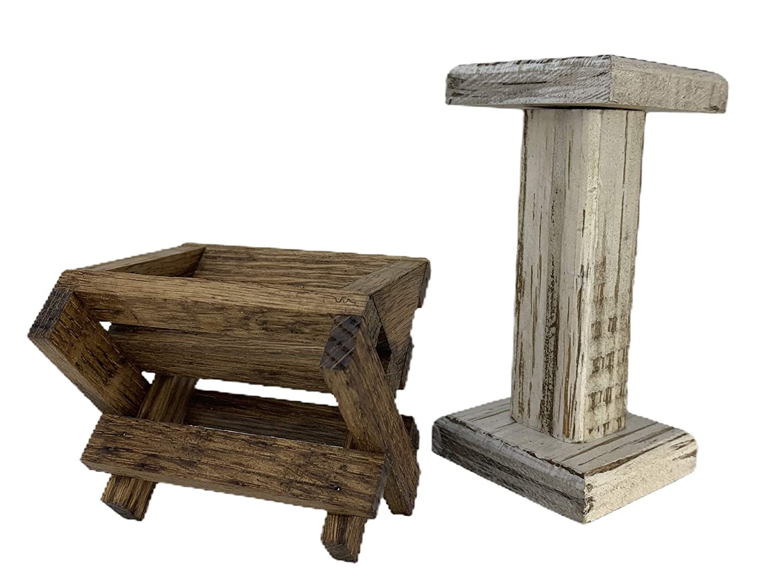 Accessory pieces for Creche Nativity Oak Stable Baby Detroit Mall MANGER An Overseas parallel import regular item