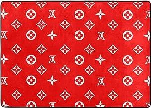 XX-LV Gold Silver Greek Luxury Soft Indoor Area Rugs Anti-Skid Home Bedroom Carpet Floor Mat 80 X 58 in