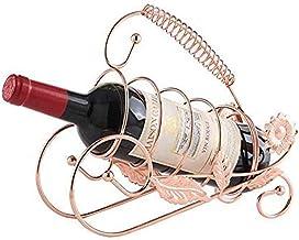 Metalen wijnhouder Vrijstaand wijnopbergrek Tafelblad wijnrek Decoratief wijnrek - Creatief vintage zonnebloem wijnrek - r...