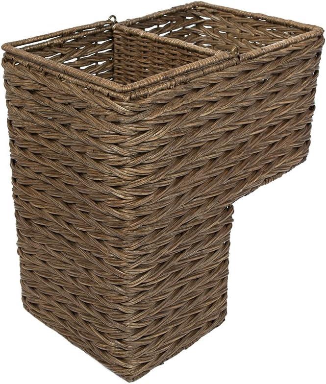 KOUBOO 1060100 Max 59% OFF Sweater Weave Handwoven Step Luxury Wicker Basket Stair