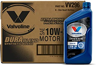 Valvoline  DuraBlend  SAE 10W-30 Synthetic Blend Motor Oil 1 QT, Case of 6