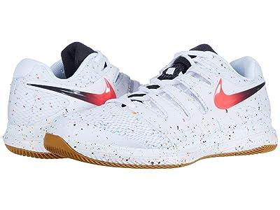 Nike Air Zoom Vapor X (White/Laser Crimson/Oracle Aqua/Off Noir) Men