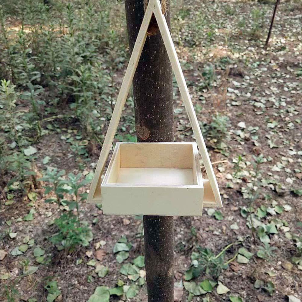 De Madera Casa Pájaro Alimentadores para Fuera de - Casa del pájaro - Pajareras Decorativas Al Aire Libre - Pájaro Casa Kits para Niños para Construir Jardín Pájaro Acecho Equipo (2): Amazon.es: Hogar