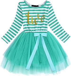 Baby Girls 1st/2nd/3rd Birthday Cake Smash Princess Long Sleeve Striped Dress