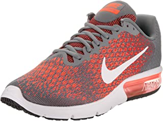 dark grey and orange nike shoes