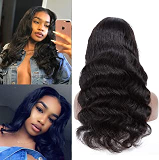 Full Lace Human Hair Wigs Pre Plucked And Bleached Knots Body Wave Free Part Body Wave Peruvian Virgin Remy Natural Hairline Same Day Ship 14 Inch
