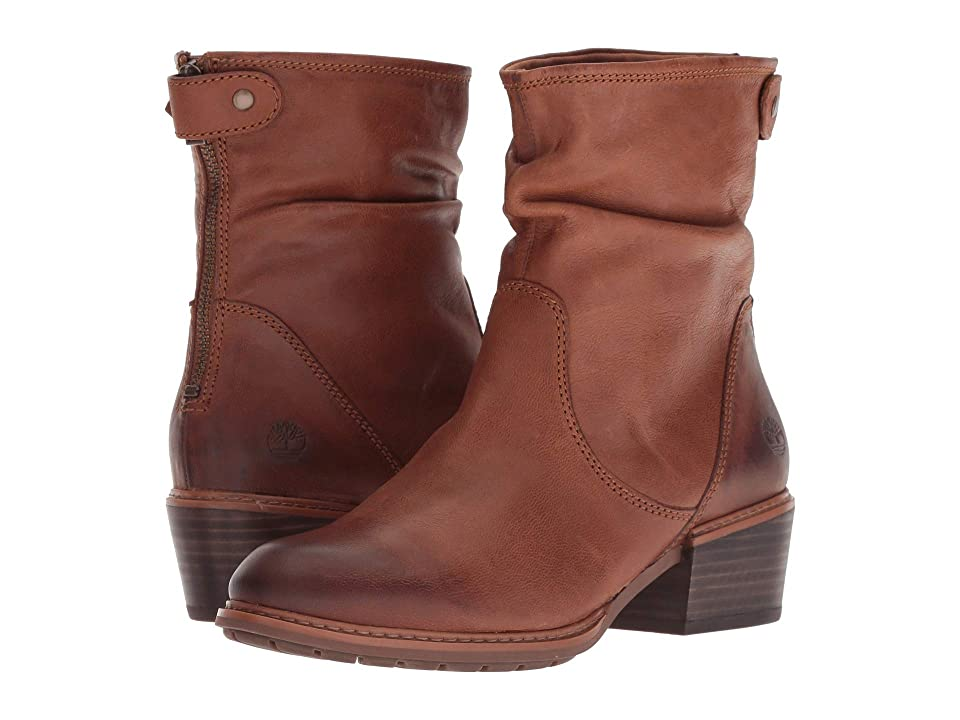 Timberland Sutherlin Bay Mid Back Zip Boot (Medium Brown Full Grain) Women