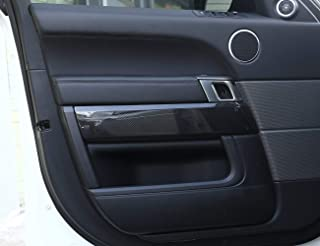 ABS Carbon Fiber Style Door Decoration Cover Frame Trim for Landrover Range Rover Sport 2014-2017
