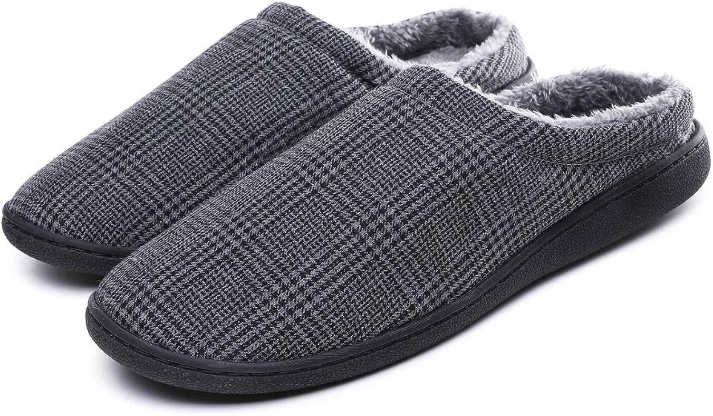 SCIEN Men's Women's House Slippers Lightweight Breathable Cotton Anti-Slip Indoor shoes
