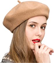 Klong Women Wool Beret Hat French Style Solid Color