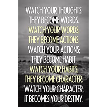 Watch Your Thoughts Buddha Quote Motivational Cool Wall Decor Art Print Poster 24x36