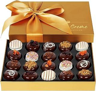Hazel & Creme Gold Cookie Gift Box - Chocolate Box 20 - Gourmet Food Gift - Mothers Day, Birthdays, Anniversary, Corporat...