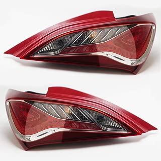 Genuine OEM LED Rear Tail Light Lamp LH & RH Set for Hyundai Genesis Coupe 2010-2013 (924012M500 & 924022M500)
