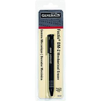 General Pencil CO. GPBM2-BP Factis Pen Style Eraser Carded