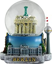Schneekugel Berlin Germany 9 cm groß auf Sockel | handbemal