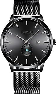 Black Waterproof Watch for Men,Analog Mens Watch with...