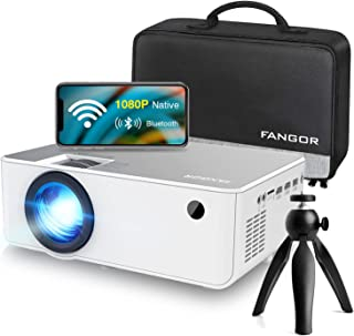 "1080P HD Projector, WiFi Projector Bluetooth Projector, FANGOR 230"" Portable Movie Projector with Tripod, Home Theater Vid..."
