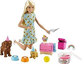 Barbie Bebek ve Köpek Partisi Oyun Seti, 3-7 Yaş Arası Kızlar İçin İdeal GXV75