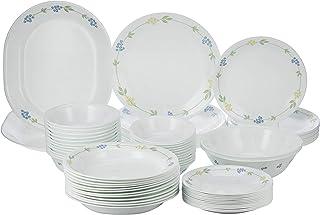 Corelle 3951 Vitrelle Secret Garden 76 Pieces Dinnerware Set, Multi-Colour, Glass