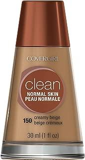 CoverGirl Clean Foundation, Normal Skin, Creamy Beige 150