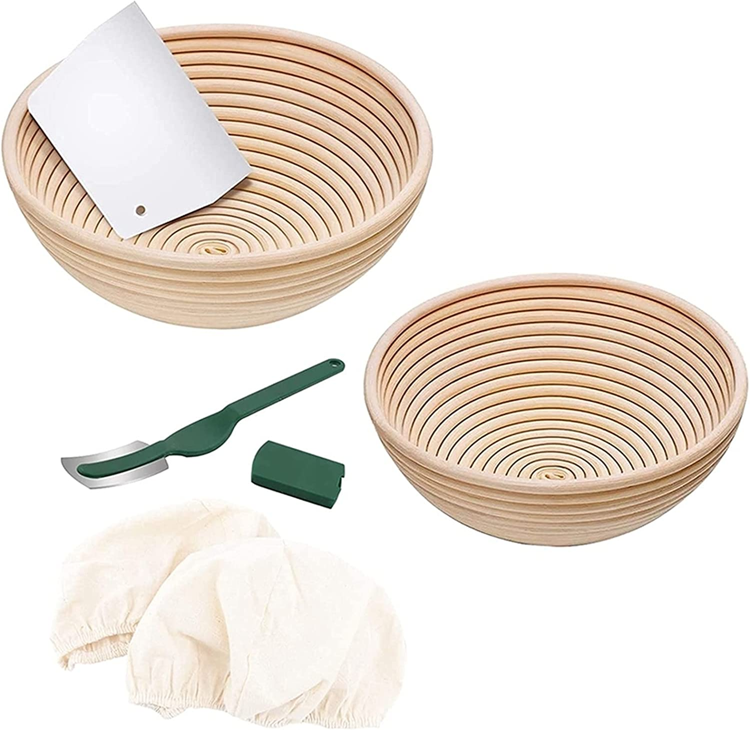 low-pricing Bread Basket Sturdy Natural Rattan B Round Jacksonville Mall Proofing 9 Inch