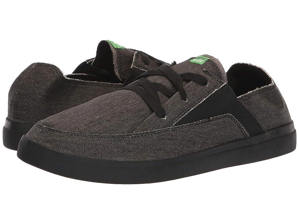 Sanuk Pick Pocket Lace-Up Sneaker (Black/Black) Men